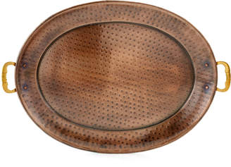 Old Dutch International Oval Antique Copper Serving Tray