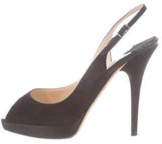 01190fe7b81 Pre-Owned at TheRealReal · Jimmy Choo Suede Peep-Toe Pumps