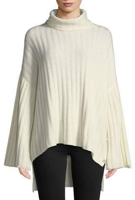 Milly Oversized Cashmere Turtleneck Sweater