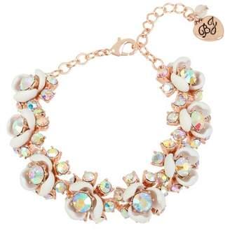 Betsey Johnson White Flower Bracelet