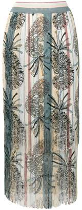 Etro paisley print pleated maxi skirt