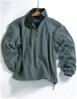 Tri-mountain Micro fleece 1/4 zip pullover. 7100TM - OATMEAL / BLACK_M