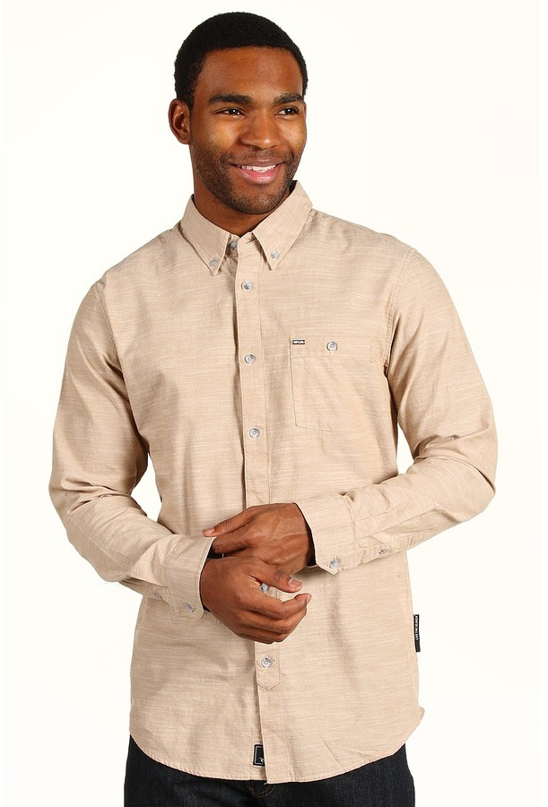 Rip Curl Lost Winds L/S Shirt (Khaki) - Apparel