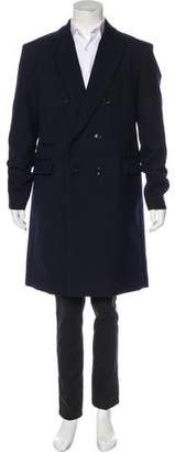 Gucci Wool Peak-Lapel Overcoat