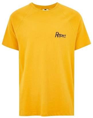 Topman Mens Gold 'Respect' T-Shirt