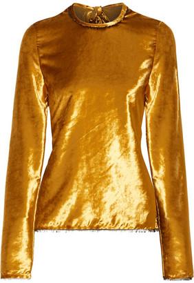 Sid Neigum - Tie-back Crushed-velvet Top - Gold