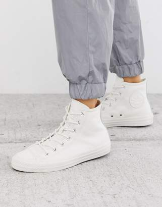Converse Chuck Taylor All Star Hi Vintage white leather sneakers