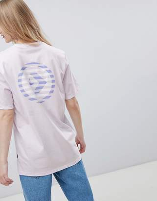 Converse Cons Skate Boarding T-Shirt In Lilac With Back Print