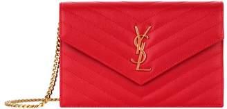 Saint Laurent Monogram Envelope Chain Wallet
