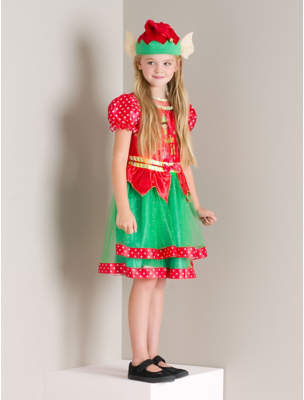 Elf Christmas Fancy Dress Costume