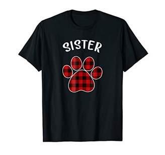 Plaid Sister Dog Pajama Shirt Matching Family Christmas Tee