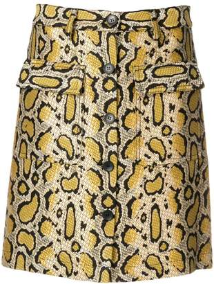 Etro snakeskin-effect mini skirt