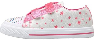 Board Angels Girls Velcro Pumps With Star Print Ecru/Pink