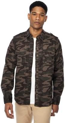 Jacamo Khaki Print Overshirt