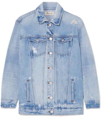 Madewell Distressed Denim Jacket - Light denim