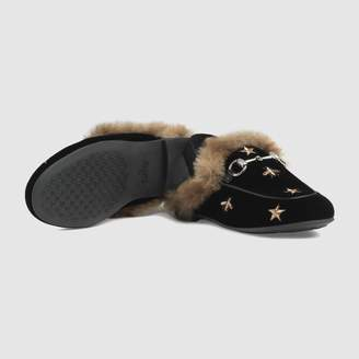 Gucci Children's Princetown bees and stars slipper