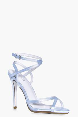 boohoo Ivy Bridal Clear Panel Peeptoe Glitter Sole Strappy
