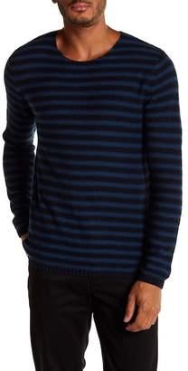 Vince Reverse Stripe Crew Neck Sweater