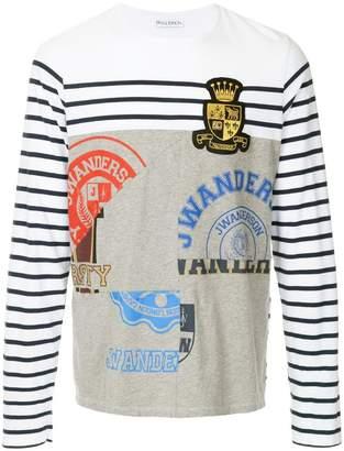 J.W.Anderson panelled Breton T-shirt