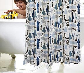 DwellStudio Cowboy Shower Curtain
