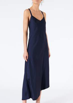 Tibi Mendini Twill Strappy Asymmetrical Dress