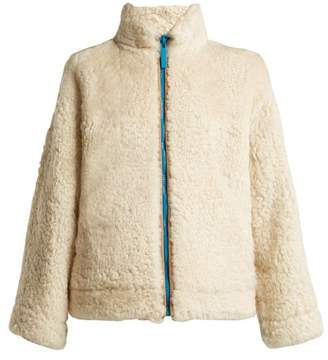 Burberry Shearling Jacket - Womens - White