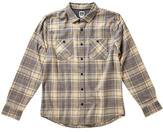 Reef Men's Cold Dip 10 Long Sleeve Plaid Flannel Shirt