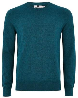 Topman Mens Navy Teal And Black Sweater
