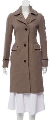 Loro Piana Cashmere Leather-Accented Coat