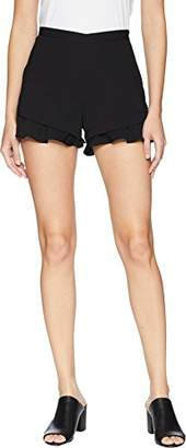Jack by BB Dakota Junior's Weekend Warrior Textured Rayon Ruffle Short