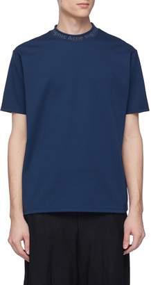 Acne Studios 'Navid' logo jacquard collar T-shirt