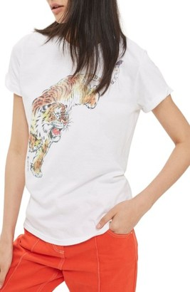 Women's Topshop Tiger Graphic Tee $30 thestylecure.com