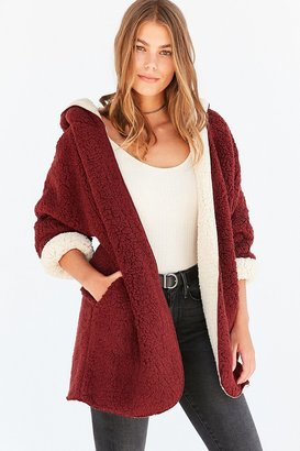 Ecote Cozy Reversible Hooded Jacket $89 thestylecure.com