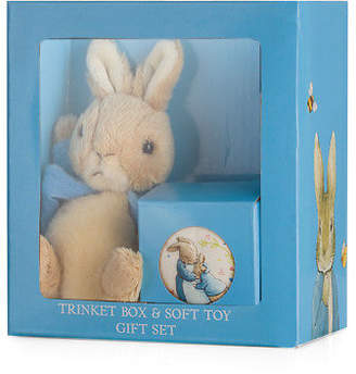 Beatrix Potter NEW Peter Rabbit Trinket Box and Soft Toy Gift