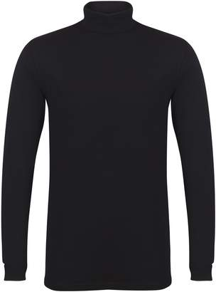 Skinni Fit Mens Feel Good Roll Neck Long Sleeve Top (M)