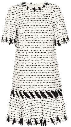 Oscar de la Renta Cotton-blend tweed dress