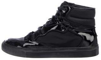Balenciaga Patent Leather High-Top Sneakers