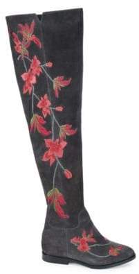 Ash Jess Embroidered Suede Over-The-Knee Boots