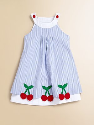 Toddler's & Little Girl's Cherry Seersucker Dress