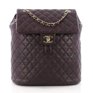 Chanel Purple Leather Backpacks