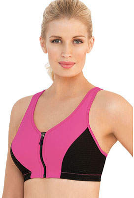 Glamorise High Impact MagicLift Zipper Sports Bra (Women's)