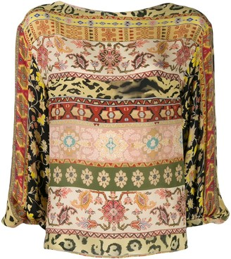 Etro printed long-sleeved blouse