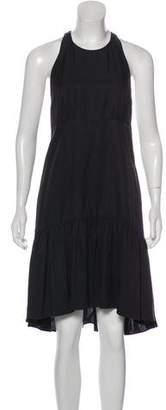 L'Agence Pleated Midi Dress
