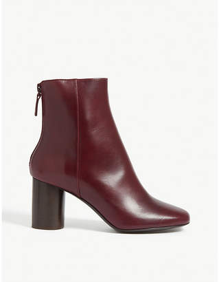 Sandro Sacha leather ankle boots