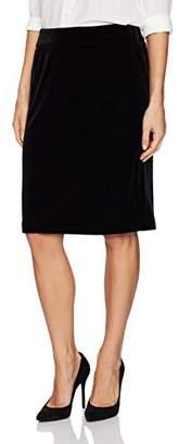 Kasper Women's Velvet Elastic Waist Skirt