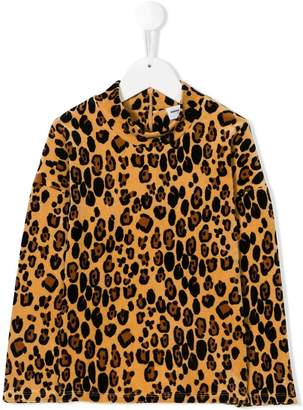 Mini Rodini leopard-print velour sweatshirt