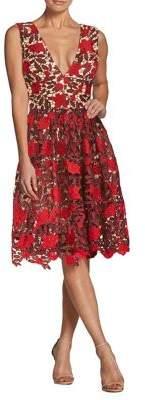 Dress the Population Summer Rita Floral-Crochet Dress