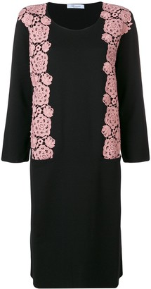 Blumarine floral embroidery sweater dress