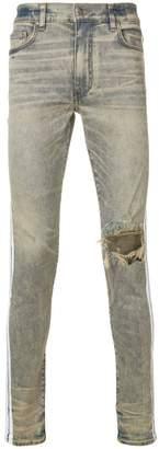 Amiri white stripe skinny jeans