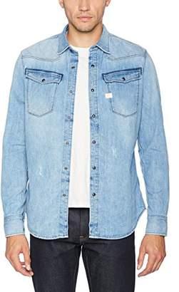 G Star Men's 3301 Qd L/s Jeans Shirt